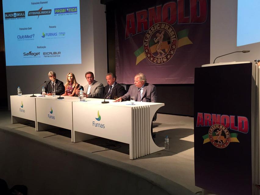 Coletiva de abertura do Arnold Classic Brasil 2016. Foto: Levy Ribeiro/Divulgação