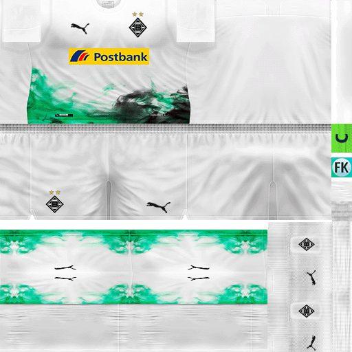 Ultigamerz Pes 6 Borussia Monchengladbach 2019 20 Home Kit