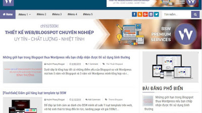 [BSW-07] BSW Blogging Fastest Premium V2.1 Template for Blogspot [FREE]