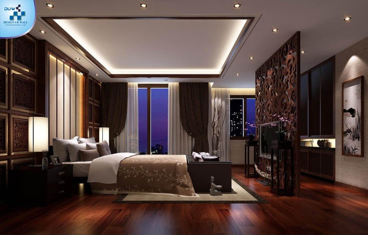 Modern Bedroom Flooring Imported Wallpaper Merchant Modern Bedroom With Laminate Wood
