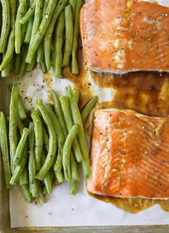 Beans and Salmon Pan