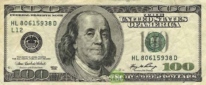 Sorteio de US $100 dólares