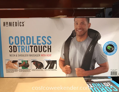 Relieve the stress and relax with the HoMedics Cordless 3D Tru Touch Neck & Shoulder Massager