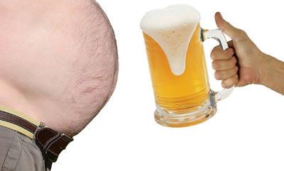 cerveza y barriga