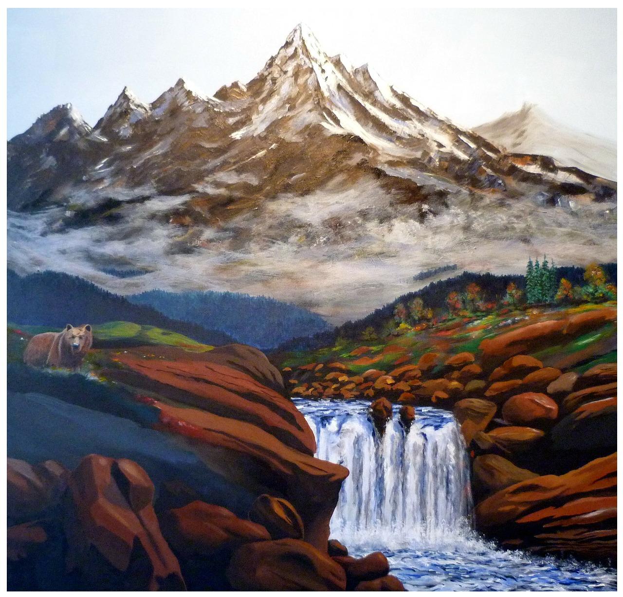 Lukisan Pemandangan Alam Indah Mirip Dengan Gambar Asli Hd Kabarduniaterbaru