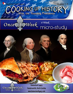 Cooking Up History...Founding Presidents Micro Study (Homeschool Legacy Review)