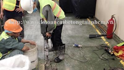 Khoan cắt bê tông tại huyện Dầu Tiếng