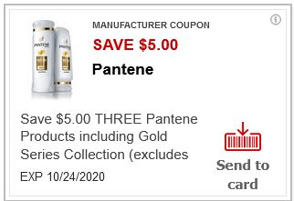 """LOAD """"ONE"""" $5.00 off three Pantene Shampoo or Conditioner CVS APP ONLY MFR Coupon (go to CVS App)"""