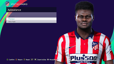 PES 2021 Faces Thomas Partey by Qiya