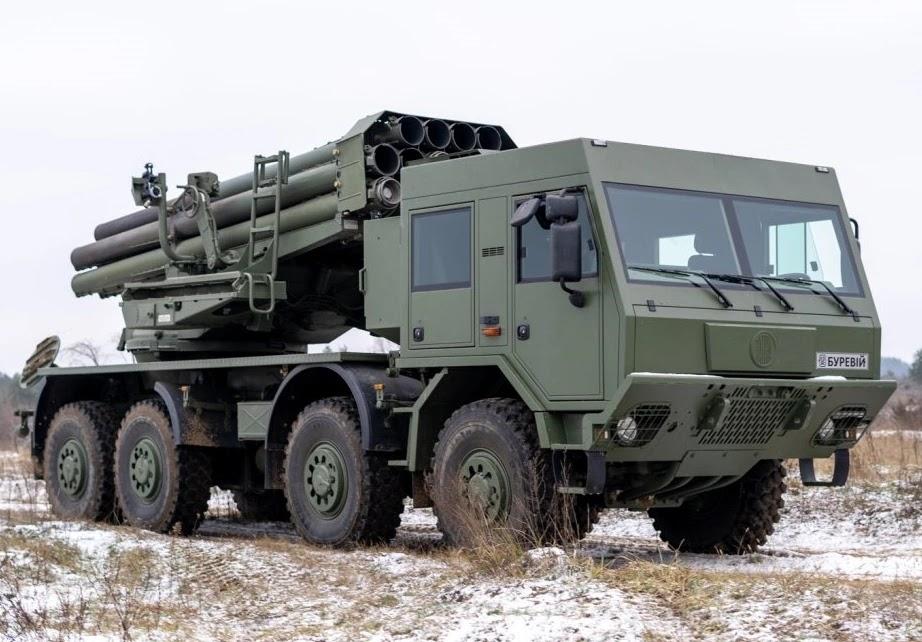 Бойова машина РСЗВ Буревій на шасі Tatra