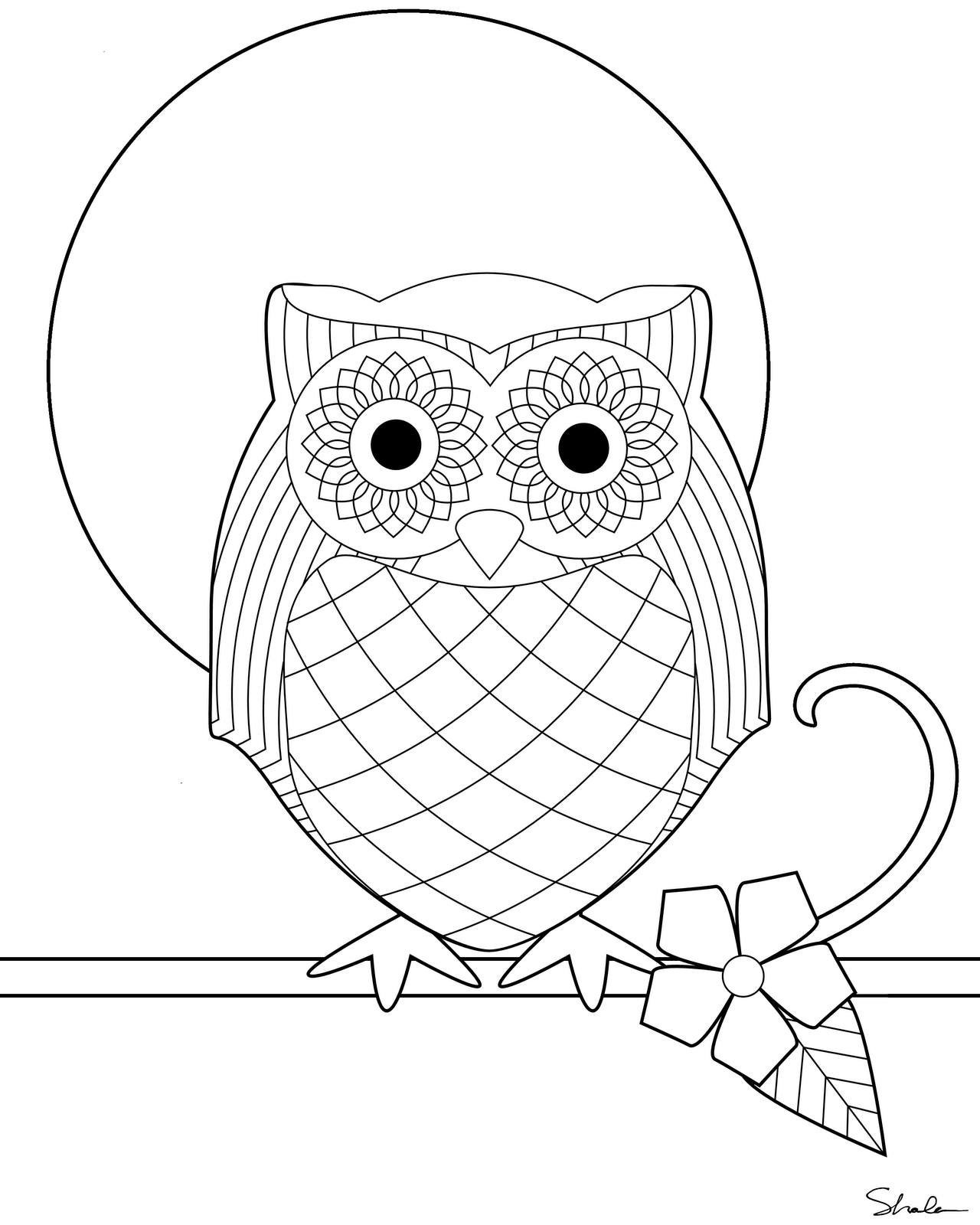 Don't Eat the Paste: Owl coloring page