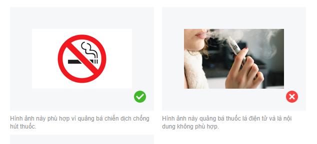 Hình ảnh sản phẩm thuốc lá quảng cáo được duyệt và không được duyệt