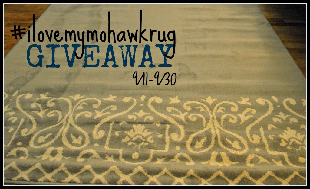 Enter the #ilovemymohawkrug Giveaway. Ends 9/30