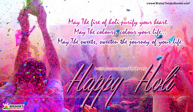best Holi Greetings with hd wallpapers in English, Holi messages Quotes in English