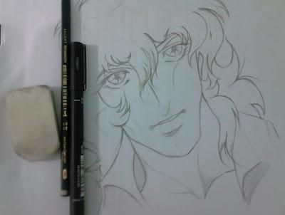 Versailles no Bara desenho mangá testando