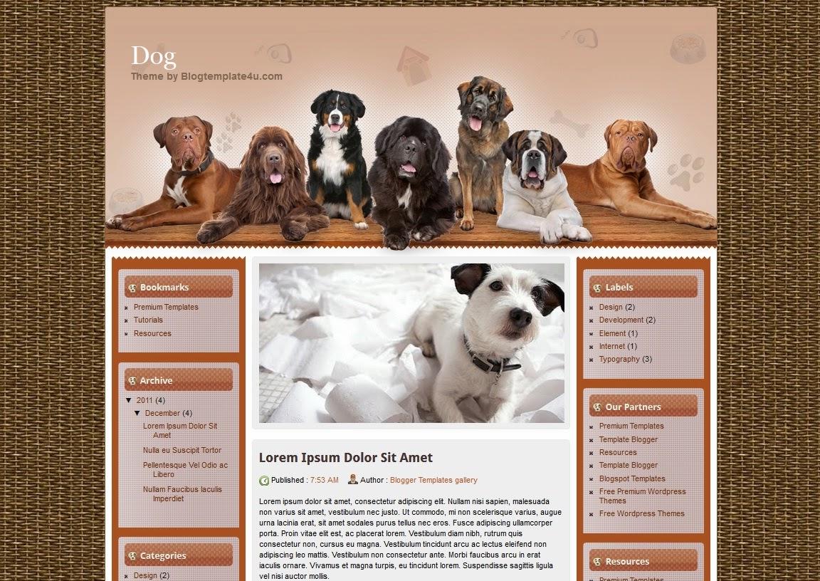 Dog Website Templates All Templates