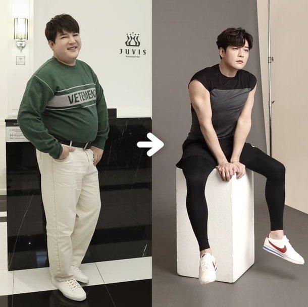 Shindong kaslı kollarını gösterdi