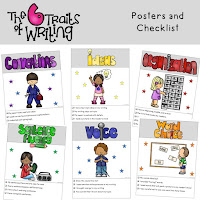 6 Traits of Writing Posters Kid Theme