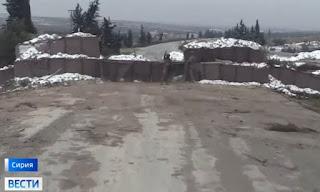 نقطة تركية تقطع الطريق الدولي بين دمشق وحلب (فيديو)