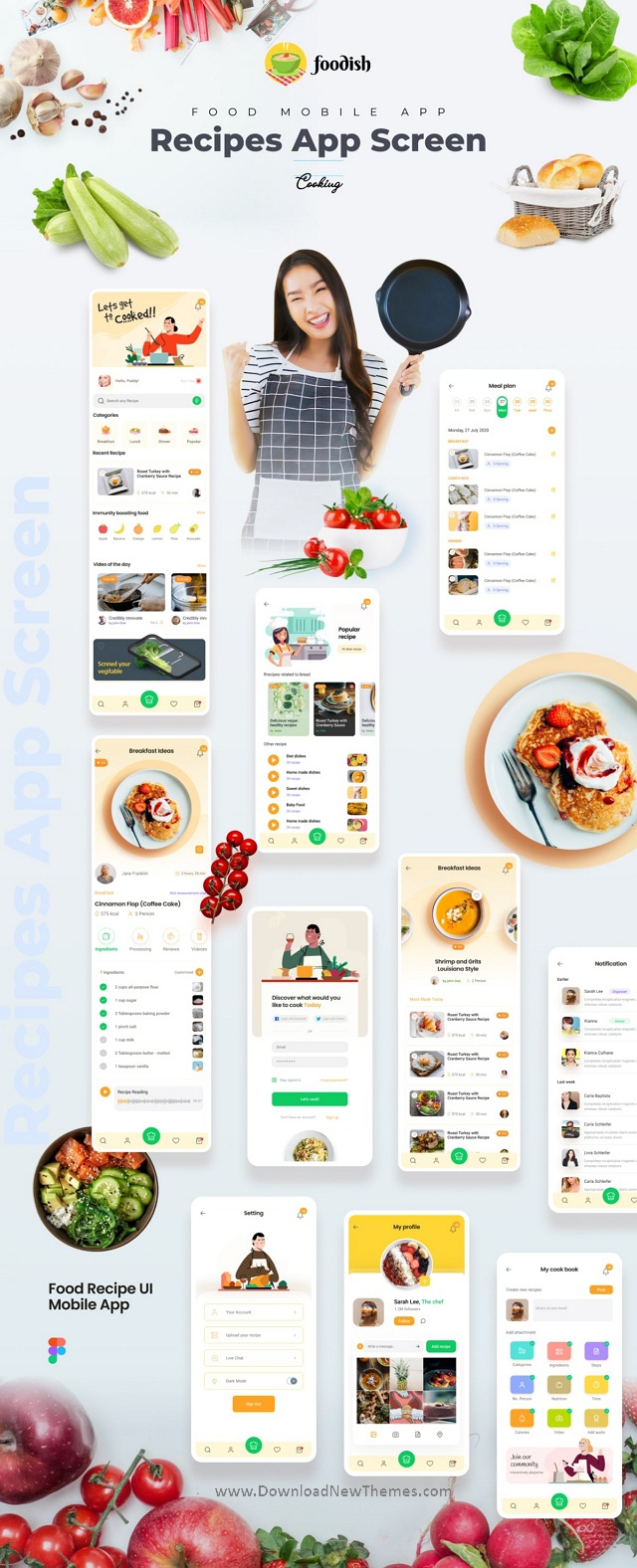Food Recipes Mobile App Template
