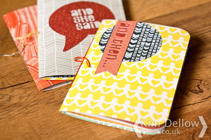 Covers of the DIY Cricut Explore notebooks