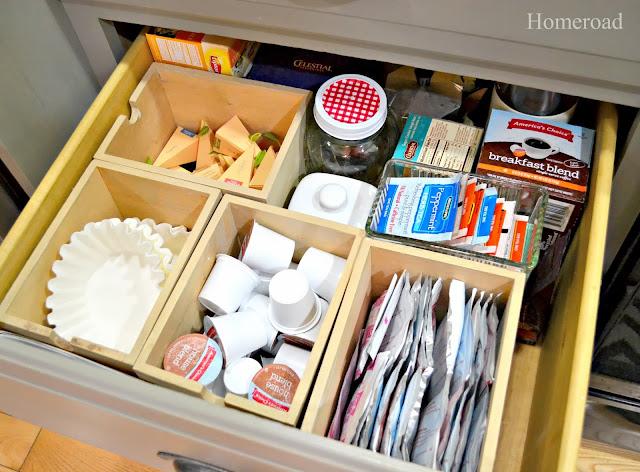 coffee station drawer organizers