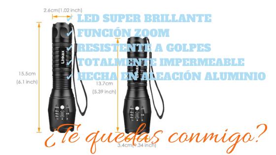 Linkax Linterna LED Alta Potencia