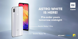 redmi note 7 pro& 7s astro white color