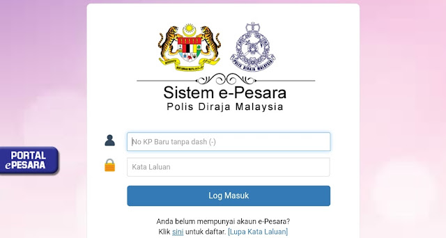 Cara Daftar ePesara PDRM Online (Login)