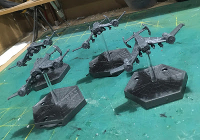 Imperial Navy Avenger Strike Fighters for Aeronautica Imperialis WIP