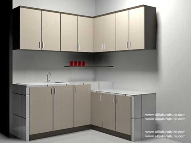 kitchen set minimalis L model movi