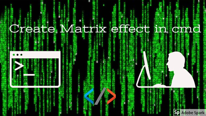 How to create matrix effect in cmd