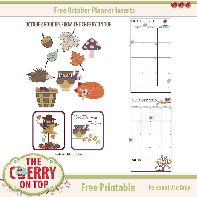free printables from The cherry ON Top