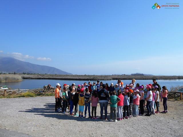 Μαθητές του 6ου Δημοτικού Σχολείου Ναυπλίου στη λιμνοθάλασσα Μουστού