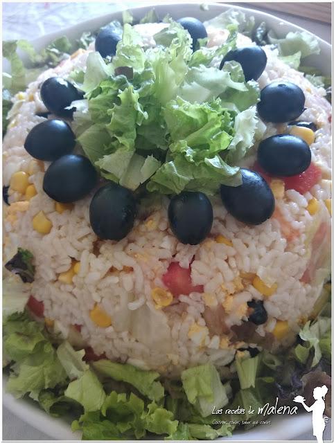 Ensalada de arroz en microondas. Una receta  para preparar en tan sólo diez minutos