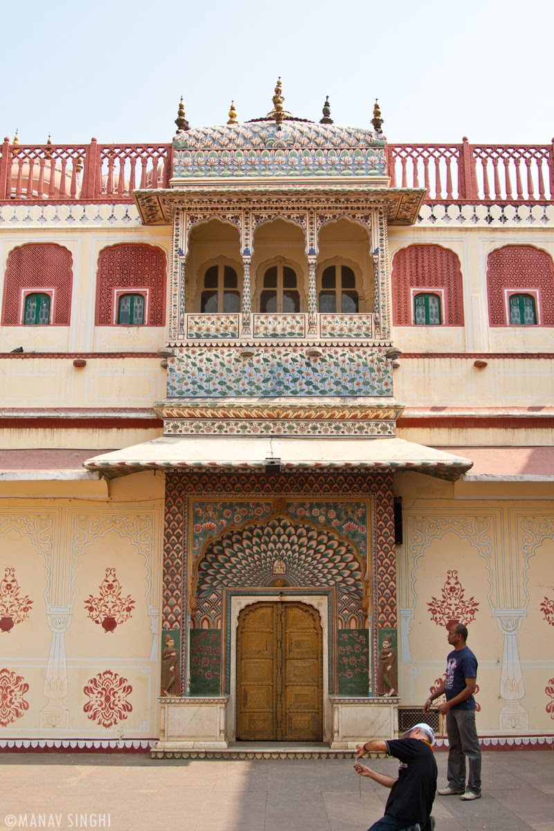 Lotus Gate at The City Palace, Jaipur.