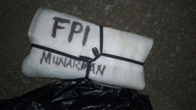 Geger Benda Bertuliskan 'FPI Munarman' Ditemukan Warga, Tim Gegana Langsung Bergerak