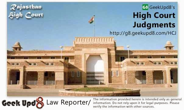Rajasthan High Court, Jaipur Judgments
