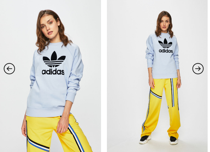adidas Originals - Bluza dama albastra model nou