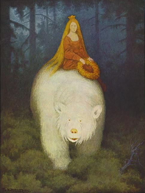 Norvège musée des beaux-arts de Oslo : Theodor Kittelsen : Kvitebjørn Kong Valemon  : Le roi ours polaire
