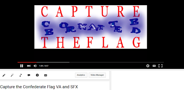 Capture the Confederate Flag voice acting sound effects YouTube video content