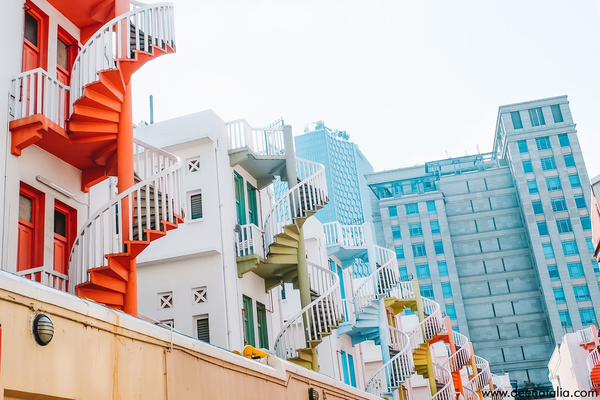 Colorful Spiral Staircase Bugis