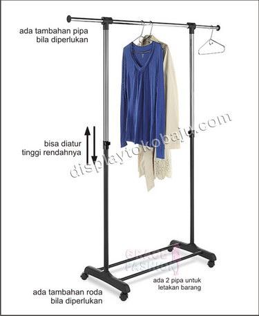 Rak Gantungan Baju 4 Roda ~ GRACE FASHION MANEKIN