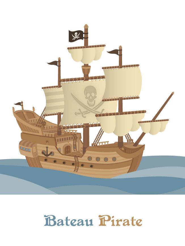 Création bande dessinée bateau pirate