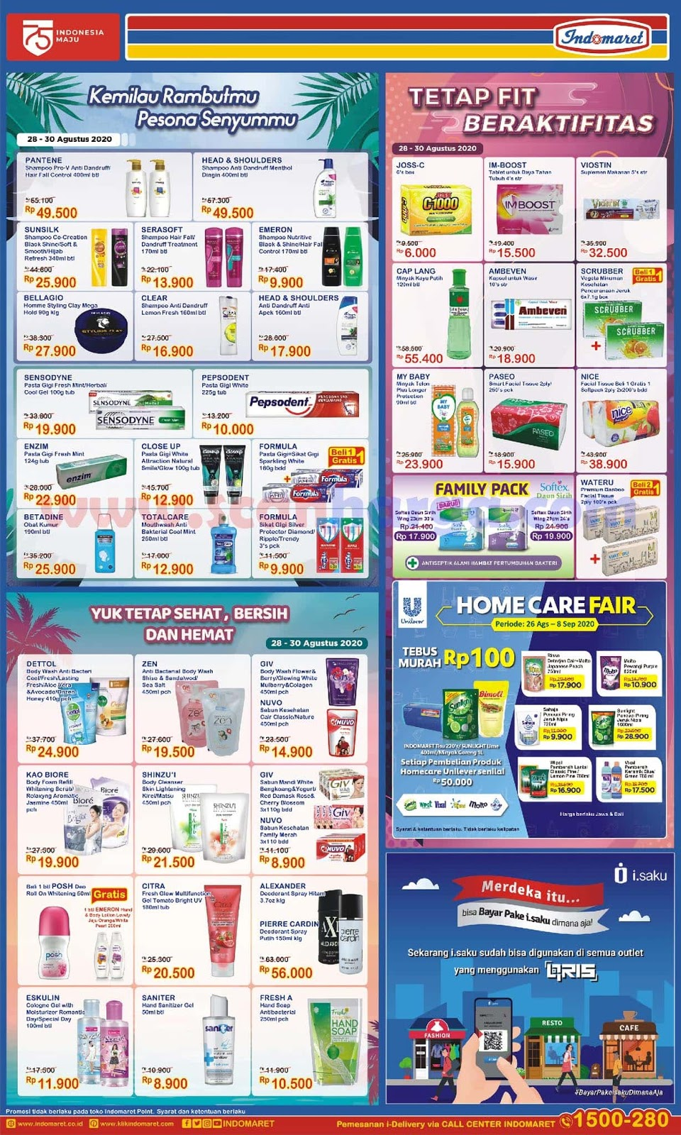 Promo Indomaret Health And Beauty Care Hanya 3 Hari Periode 28 - 30 Agustus 2020