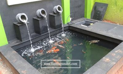 jasa pembuatan Kolam ikan minimalis lahan sempit