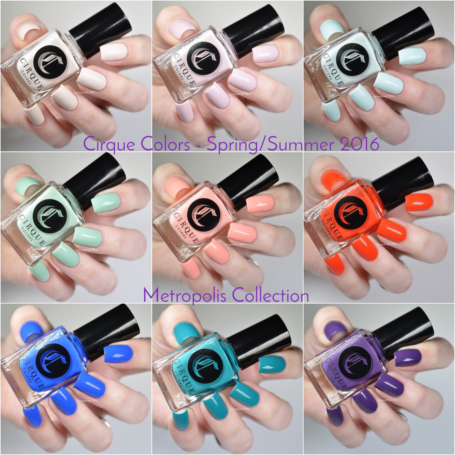 Cirque Colors Spring/Summer 2016 - Metropolis Collection - Swatches & Review