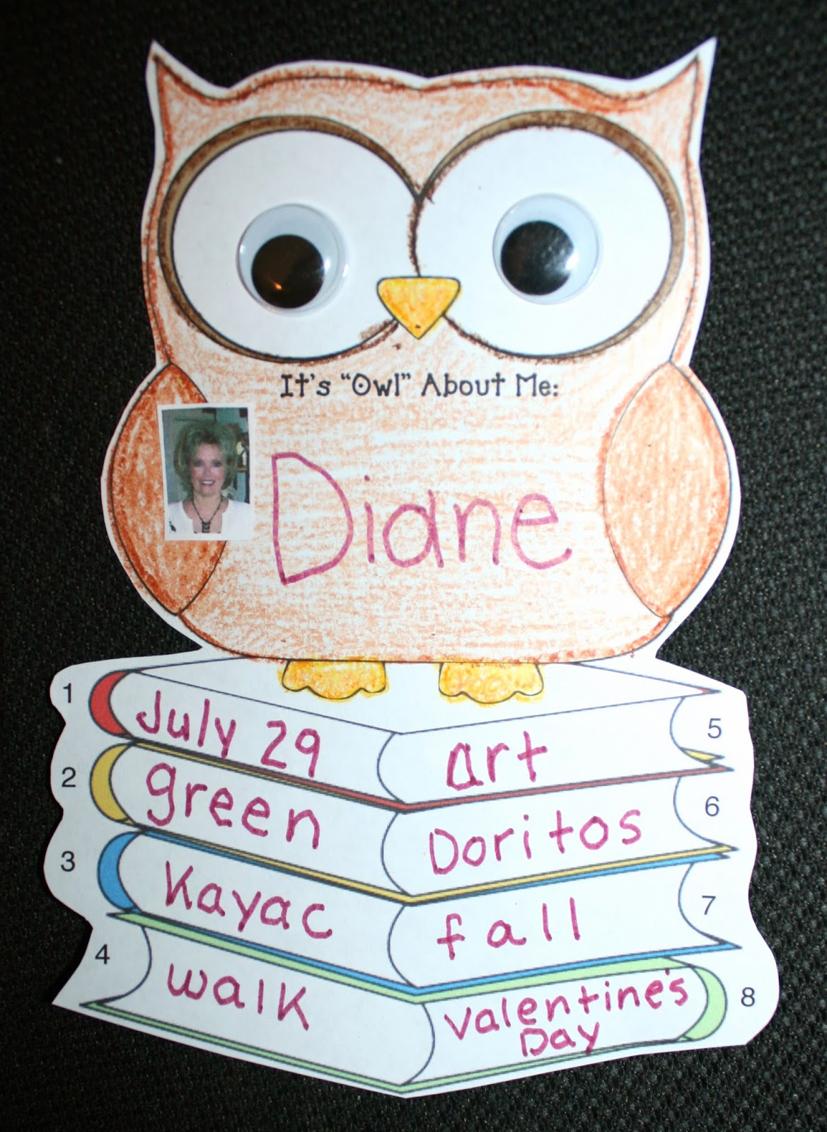 A Crucial Week Owl About Me Freebie From Classroom Freebies