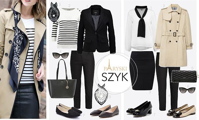 francuski styl blog, stylizacje