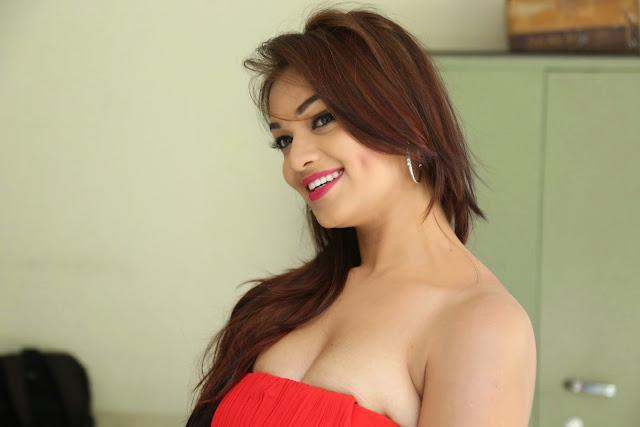 Ashwini glamorous photos in red-HQ-Photo-2